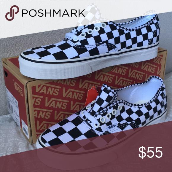 2ba18f7596a463 vans authentic black white checker lady11 men9.5 Vans Shoes Sneakers ...