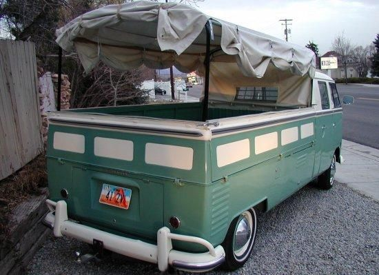 1963 Volkswagen Stretch Double Cab teal / white