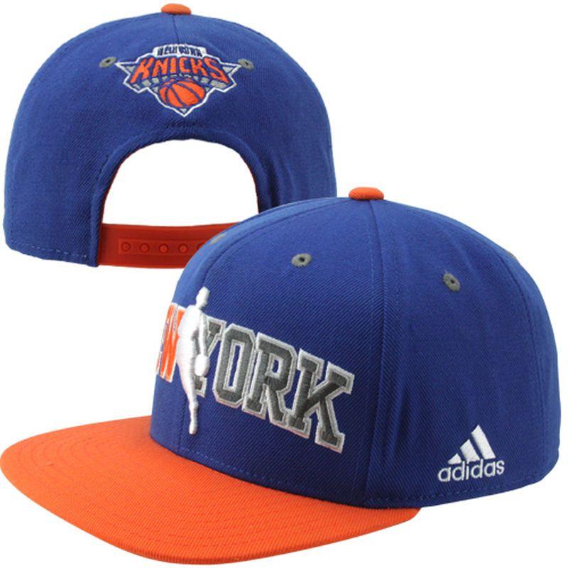 8c619ac93 adidas New York Knicks Flat Brim Adjustable Snapback Hat - Royal Blue Orange