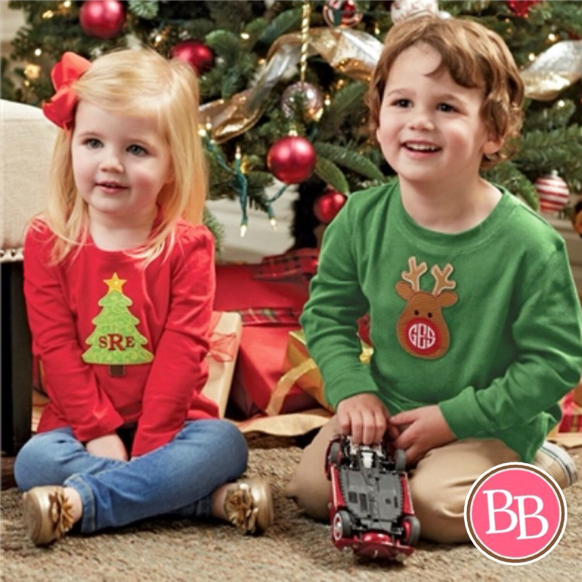 Our NEW Mud Pie Christmas Monogram Patch can transform any tee into a uniquely personalized and festive holiday top!!! • $5.99 + Monogram • 4 Styles!! #BBKids #Christmas #holidaypreview #monogram #patch #mudpie www.brandisboutiqueshop.co > Kids > Holiday Outfits > Christmas