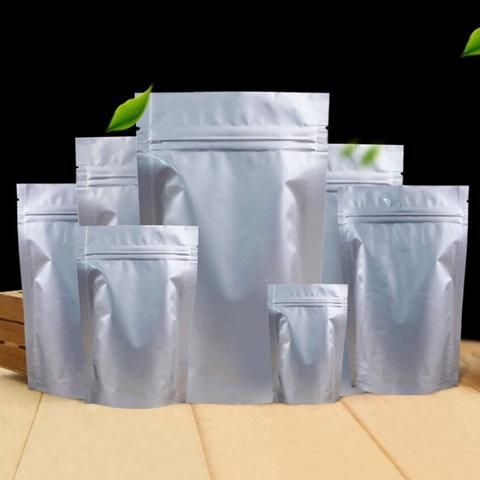 100 Pack Stand Up Mylar Bags Zip Lock Pouch For Long Term Food Storage 10 Sizes To Choose