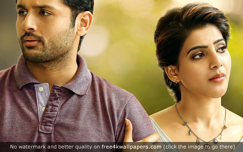 Nithin Samantha A Aa Telugu Movie Wallpaper Telugu Movies A Aa