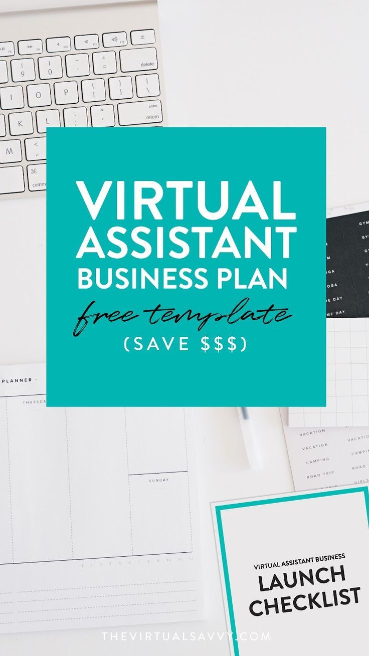 FREE Virtual Assistant Business Plan Template Virtual