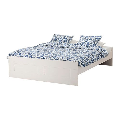 BRIMNES Bed frame IKEA Adjustable bed rails allow the use of ...