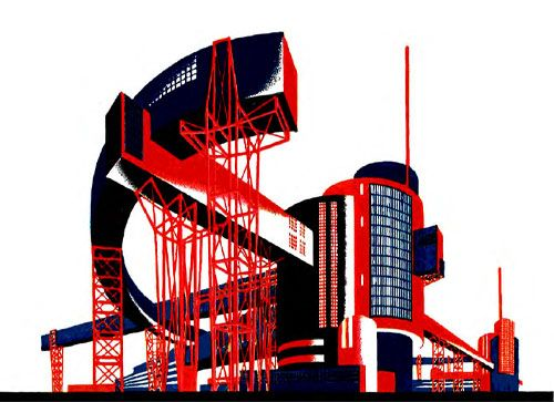 Konstruktivismus Architektur: Architectural Fantasies – Iakov Chernikhov