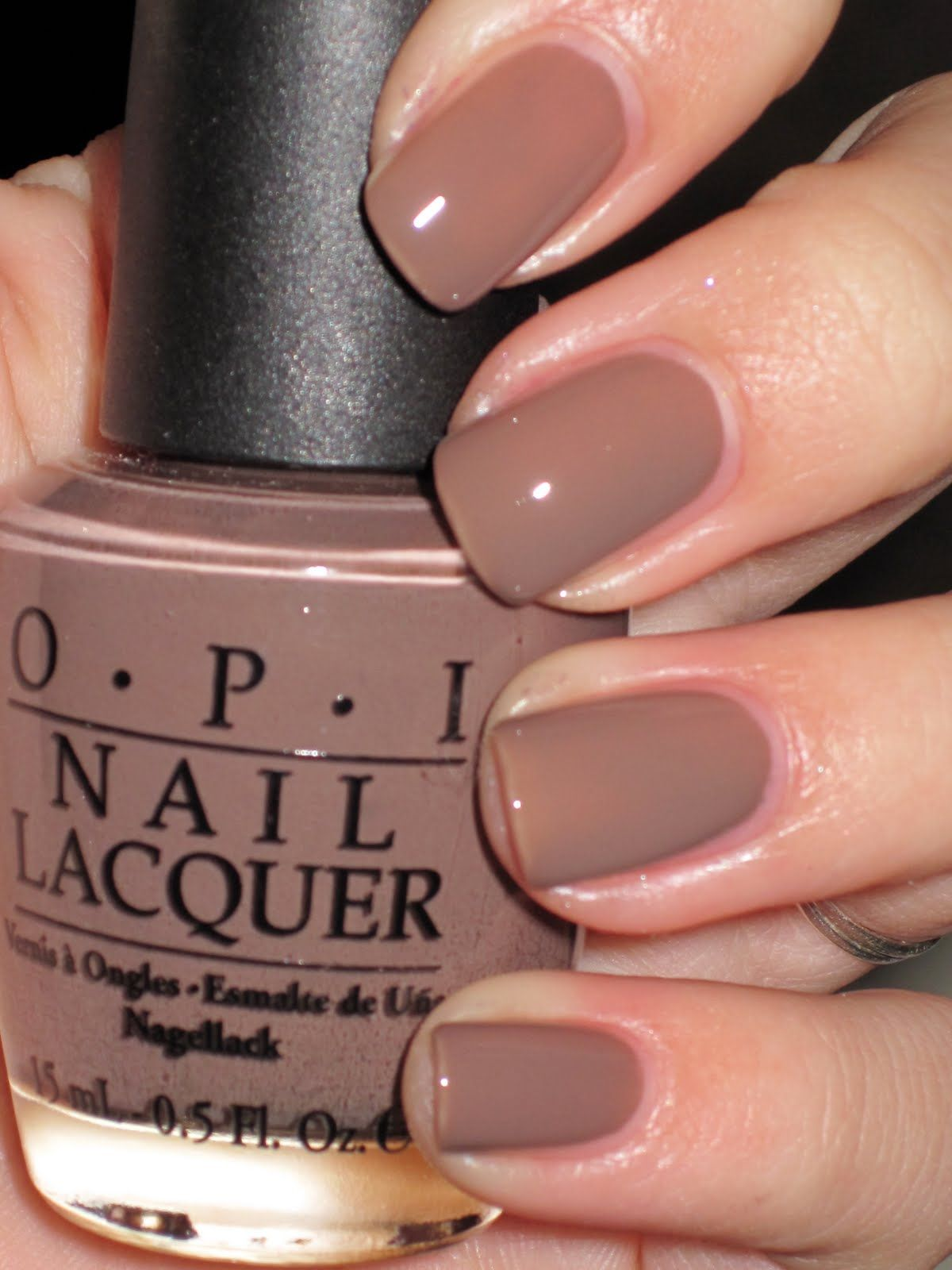 opi - over taupe nails
