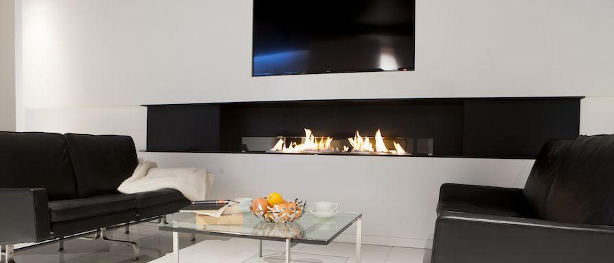 Deco flame Montreal Panorama Danish designed, smoke free, bio - wohnzimmer kamin ethanol