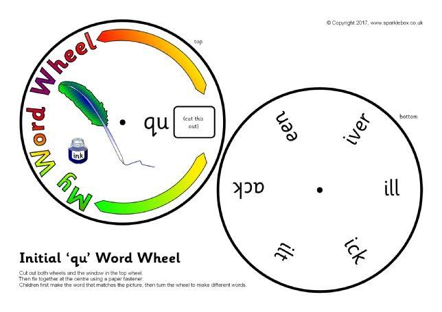Qu Word Wheel Sb11920 Sparklebox Ch Words Word Wheel Cvc Words