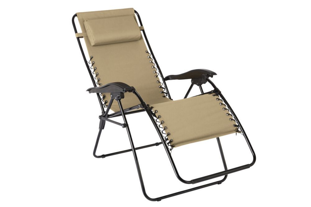 The home depot multiposition zero gravity chaise in beige
