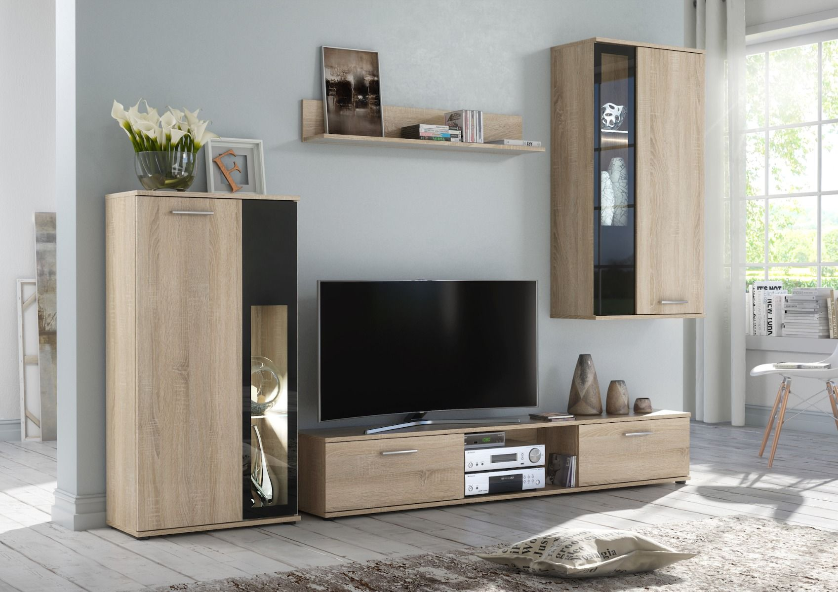 Waco - television wall unit in 9  Modern tv wall units, Living