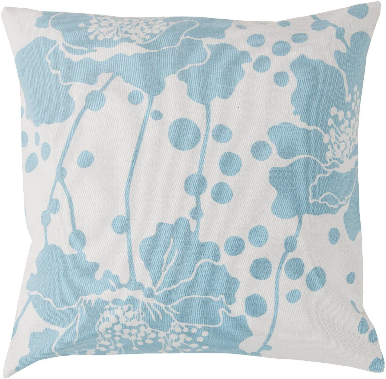 Florence Broadhurst Spotted Floral FB-017 Sky Blue Floral Pillow - GiiStores.com