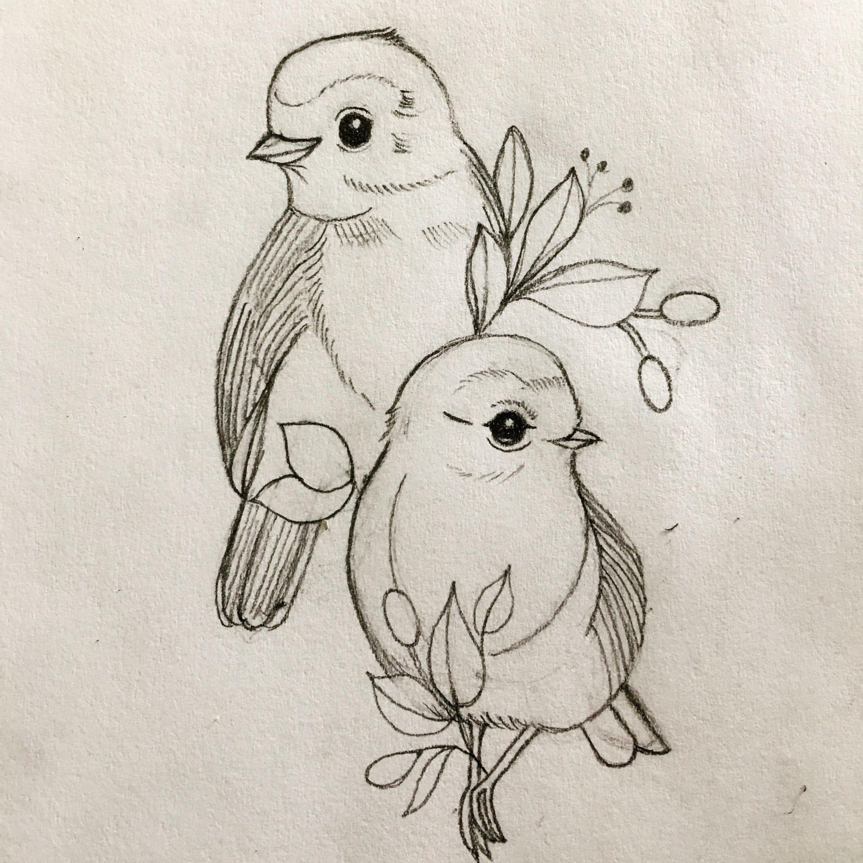 Рисунок птицы карандашом для срисовки