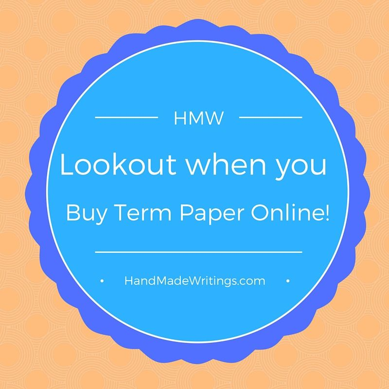 Buying term paper online