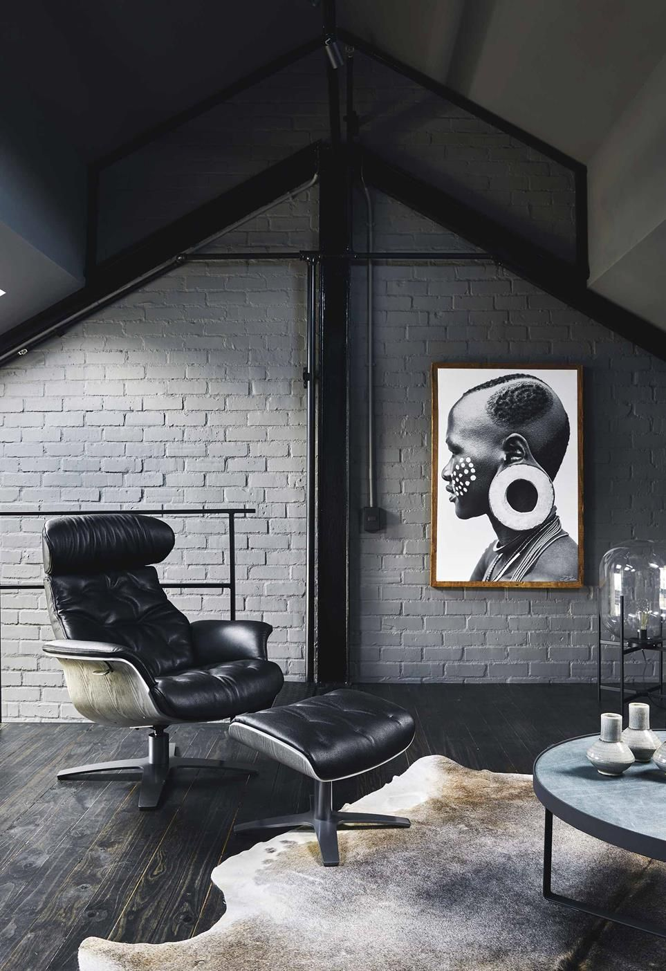 An Industrial Style Apartment With A Monochrome Palette Painted