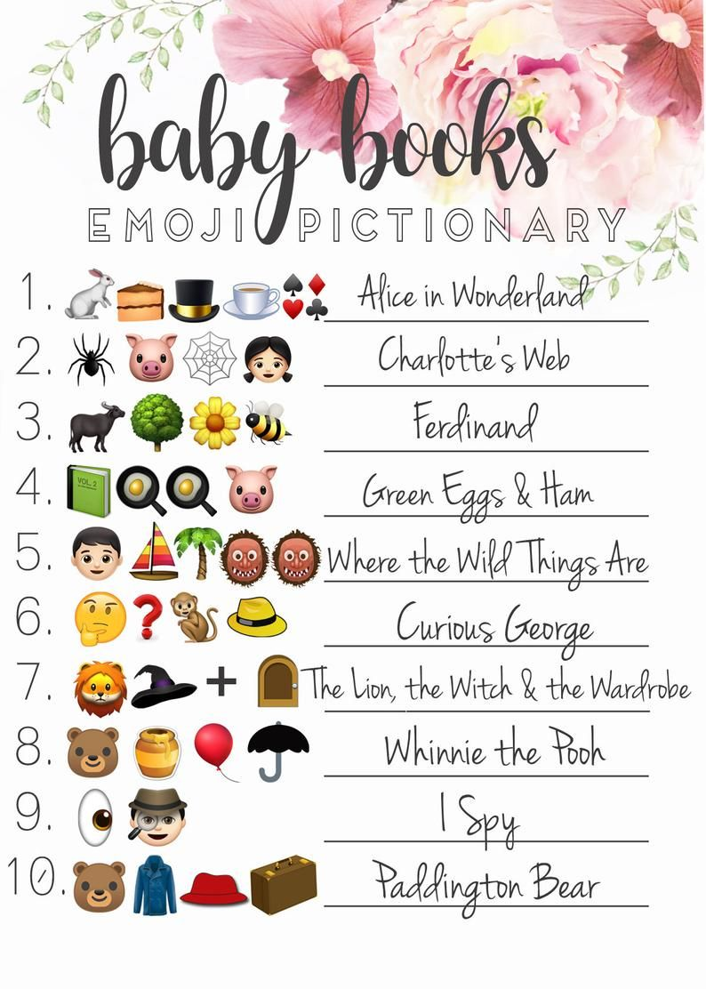 Fun Baby Shower Emoji Game Ideas & Printables | Worth Writing For