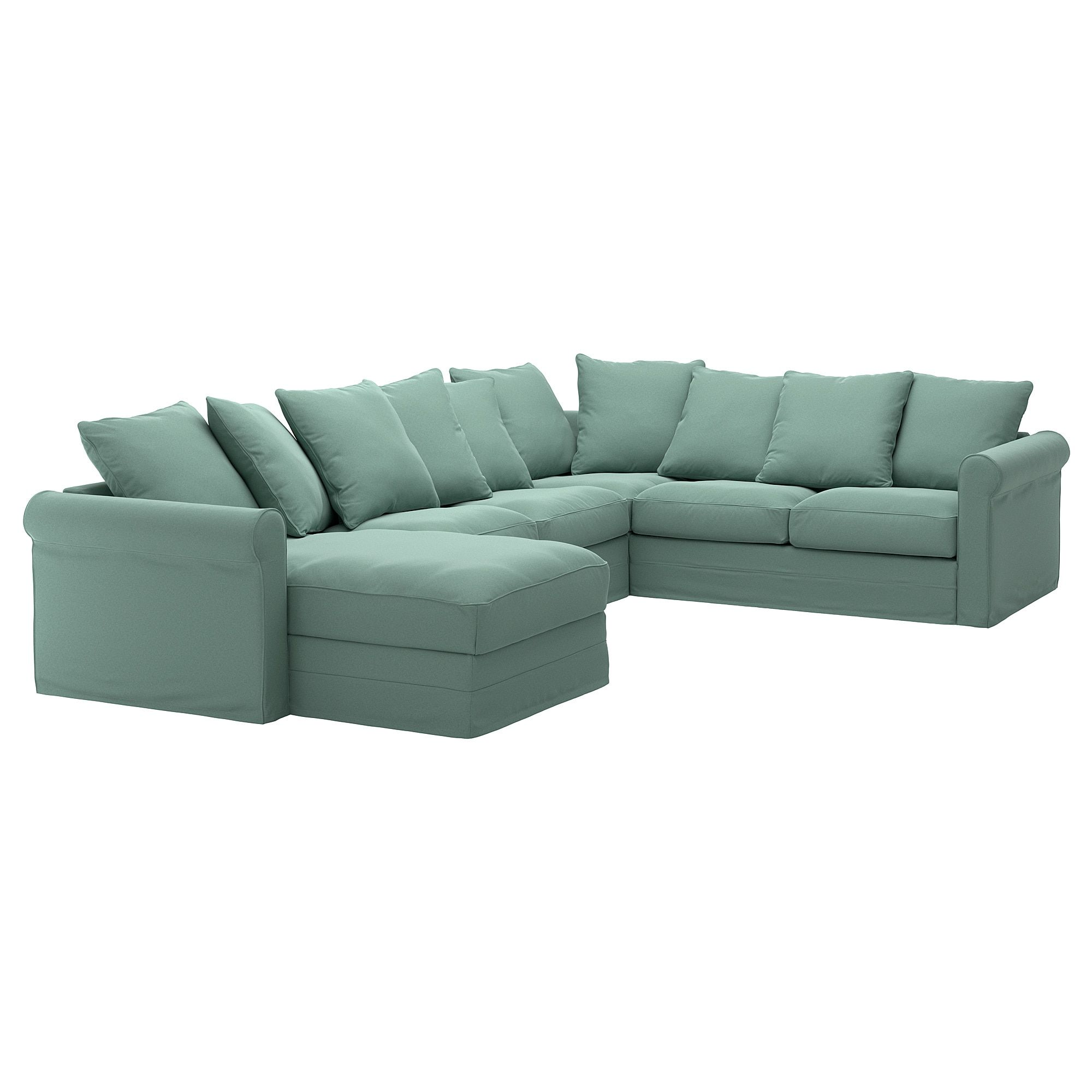 Gronlid Ecksofa 5 Sitzig Mit Recamiere Ljungen Hellgrun Ikea Deutschland Ikea L Shaped Sofa Corner Sofa L Shaped Sofa