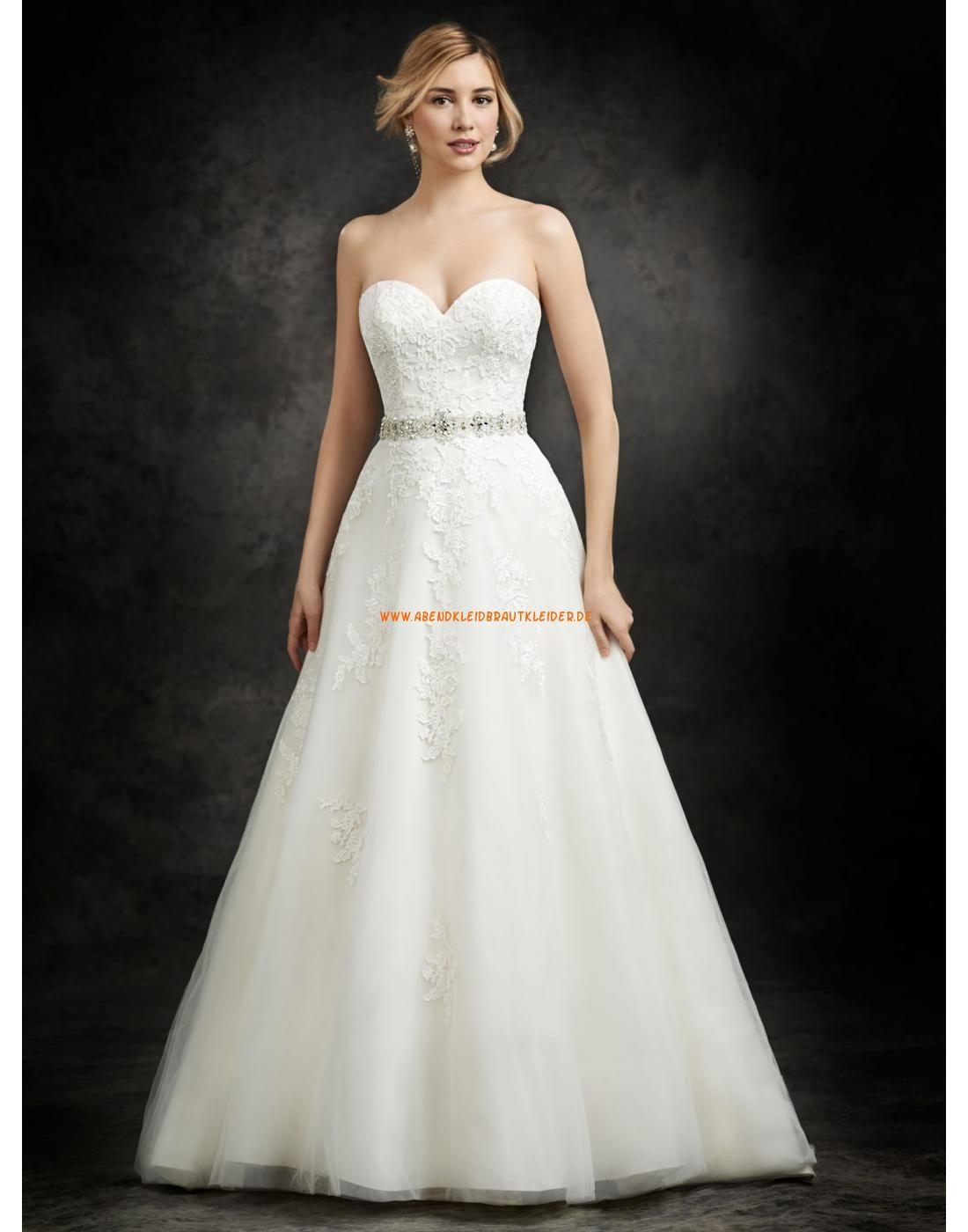 Ella Rosa A-linie Herz-ausschnitt Schöne Brautkleider aus Softnetz mit Applikation