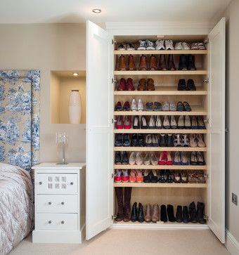 Transform A Large Linen Closet Or Wardrobe Into A Huge Shoe Storage Cabinet!