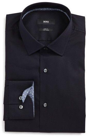 f70d6eb0c BOSS Jesse Slim Fit Easy Iron Dress Shirt | linen shirt | Shirts ...