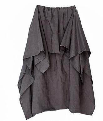 7009610ff79 Johnature 2016 New Women Wide Leg Loose Linen Cotton Asymmetric Pants  Original Designer Plus Size Capris Elastc Waist Skirt
