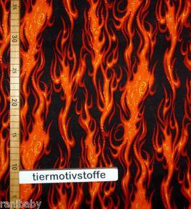 1 Meter Patchworkstoff Flammen Feuer Lodernde Feuerzungen ...