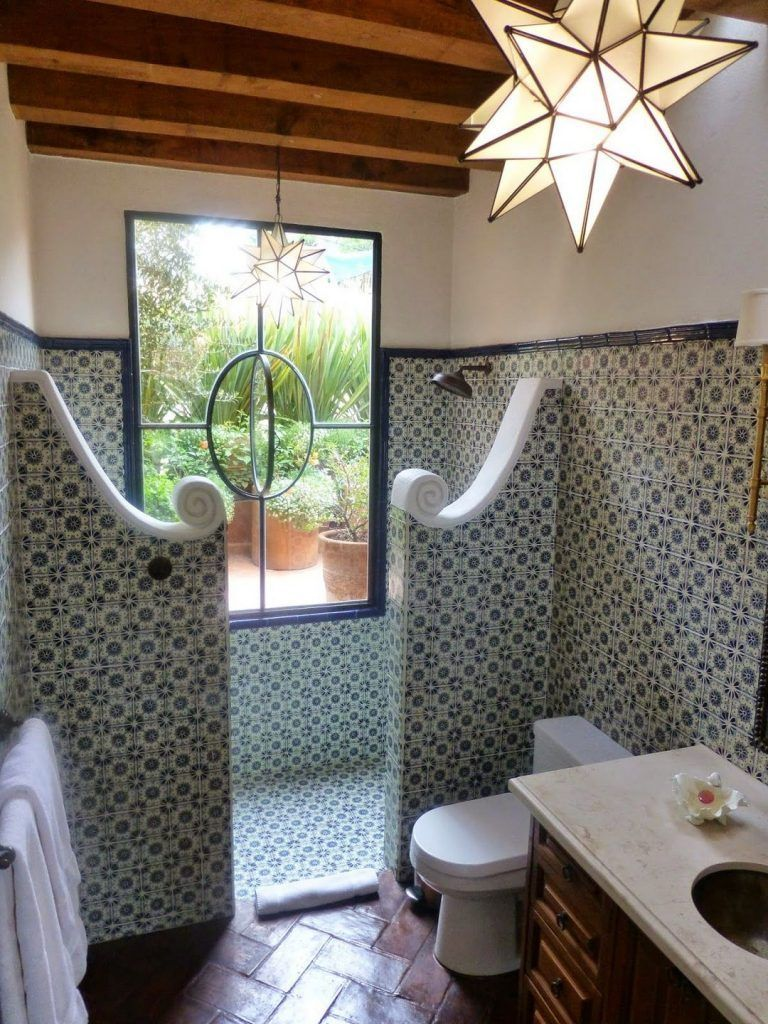 42 The Upside To Interior Designs For A Modern Spanish Home Style Walmartbytes Spanish Style Bathrooms Spanish Bathroom Spanish Style Homes