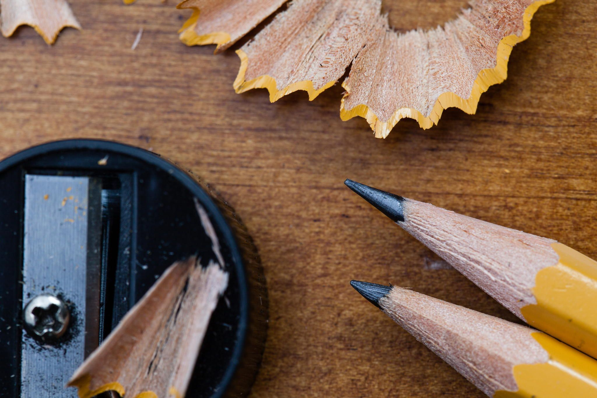 Macro Image Of Pencils Sharpener And Shavings Images Of Pencil Pencil Learning Styles