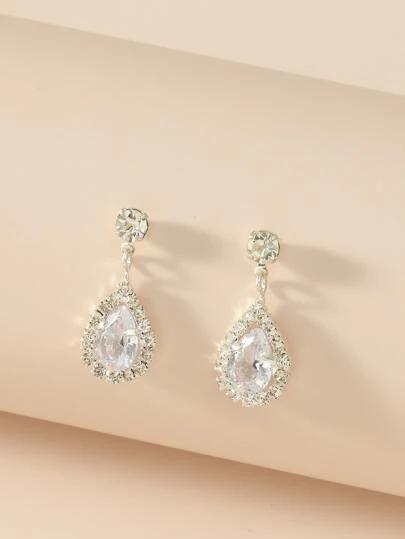 Black Friday 2020 Search Earrings Shein Usa In 2020 Drop Earrings Earrings Rhinestone