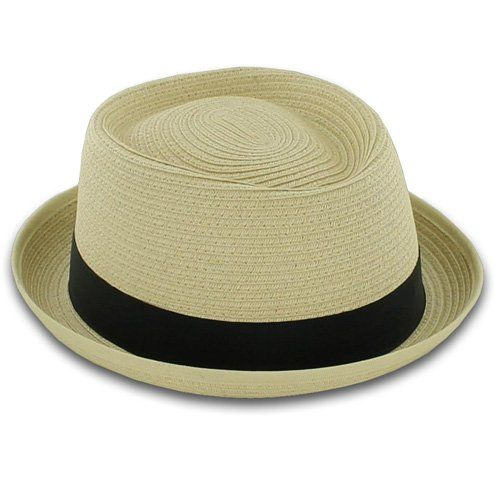 Belfry Street Fernando – Straw Braid Pork Pie  Stay cool, calm and collected in this simple yet chic straw porkpie. Made of woven paper straw, Fernando boasts a contemporary shape with a 1 1/2″ stingy snap brim and a 4″ oval crown. Finished with a tonal grosgrain ribbon hatband and a cotton sweatband for added comfort, Fernando is a must have for spring. Contemporary Pork Pie Style Contemporary Pork Pie Style Durable Paper Straw Braid Contemporary Pork Pie Style Contemporary Pork Pie..