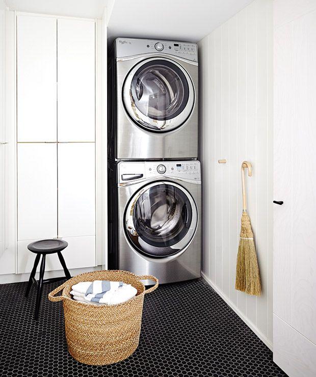 Updated Classics Laundry Rooms Pinterest Dark tile floors Tile