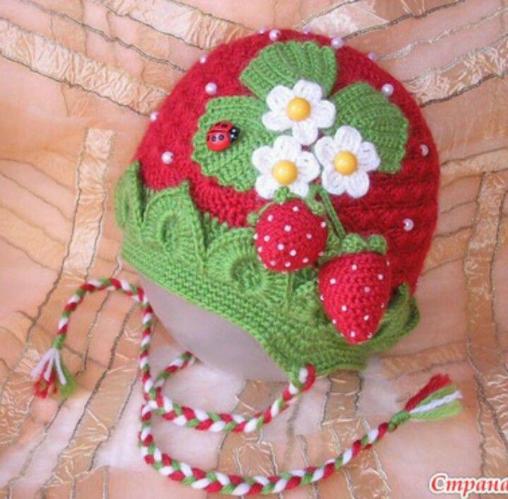 Erdbeere 3 Häkeln Croché Gorro Tejido Und Gorras