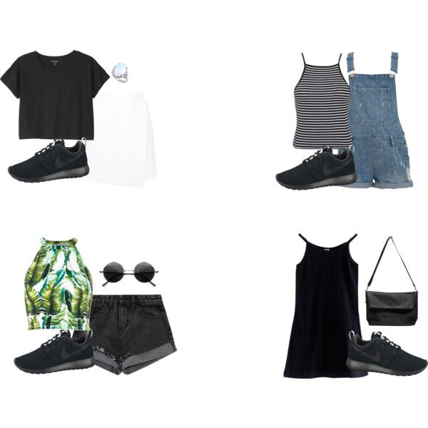 Summer outfits ft black nike roshe runs | Outfits | Pinterest | Nike roshe Roshe and Summer