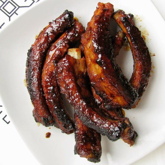 """Baked Bbq Ribs With Dry Rub Bbq Sauce Recipe: The Best Ever BBQ Sticky Ribs Marinade."""" I Made These"""