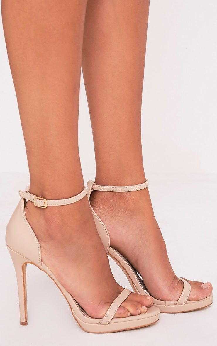 711e20399 Enna Nude Single Strap Heeled Sandals in 2019 | Shoes | Single strap ...