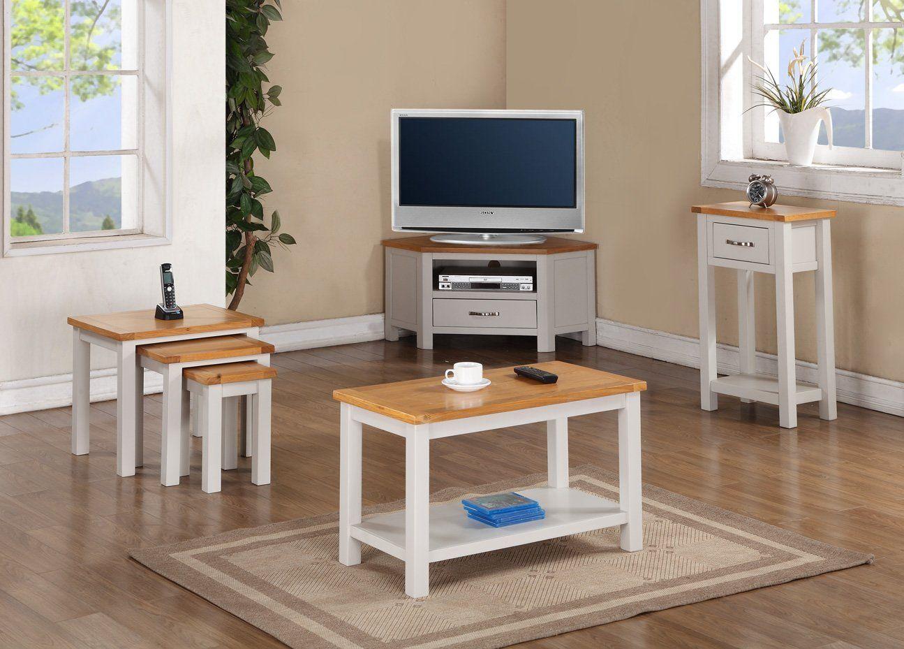 mullion peint meuble tv d'angle chêne: amazon.fr: cuisine & maison