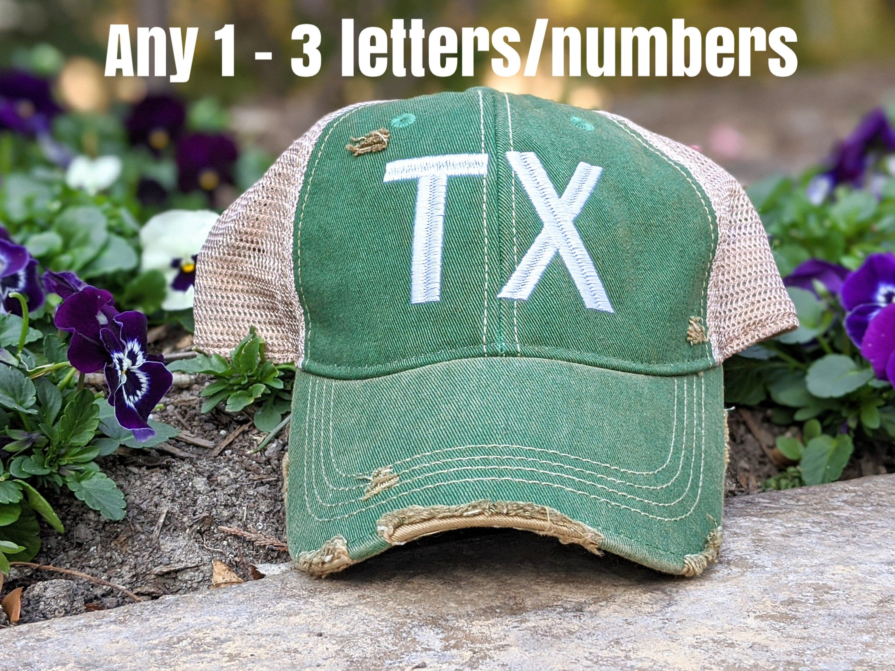 Women's hat with custom text, texas hat, state hat, state