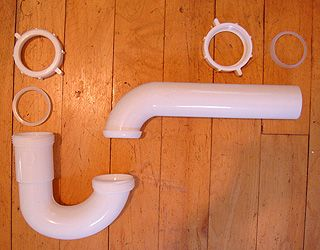 P Trap Kit For Kitchen Sink Drain Made From Pvc Plastic
