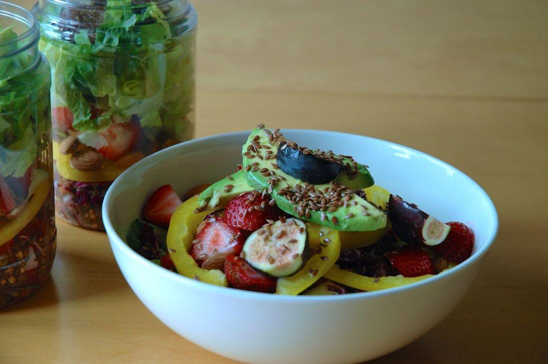 Summer Salads! Fresh fruit sweet and savoury salad