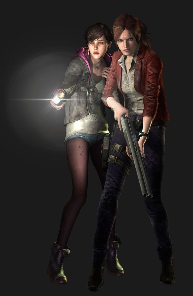 "Claire Redfield And Moira Burton ""Resident Evil: Revelations 2"" (2015) Capcom"