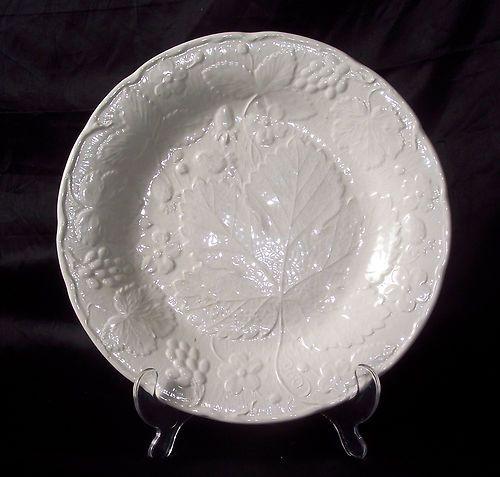 Dinnerware & White Majolica Style Strawberry \u0026 Grape Leaf - Dinner Plate ...