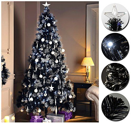 DREAMING OF A BLACK CHRISTMAS?! LUXURY PRE LIT PENCIL SLIM BLACK CHRISTMAS  TREE W - DREAMING OF A BLACK CHRISTMAS?! LUXURY PRE LIT PENCIL SLIM BLACK