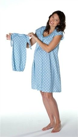 e95b0384d7413 Nursing night gown & matching baby romper. Makes a great baby shower gift  for the breastfeeding mom! www.milkandbaby.com