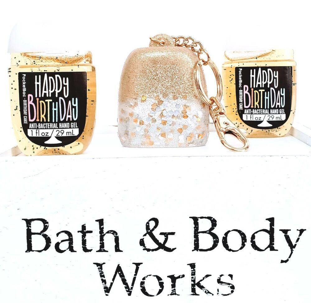 Bath body works happy birthday pocketbac 2 goldsilver