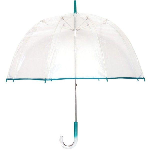 PURPLE Trim Clear See Through Bubble Dome Elite Fashion Umbrella