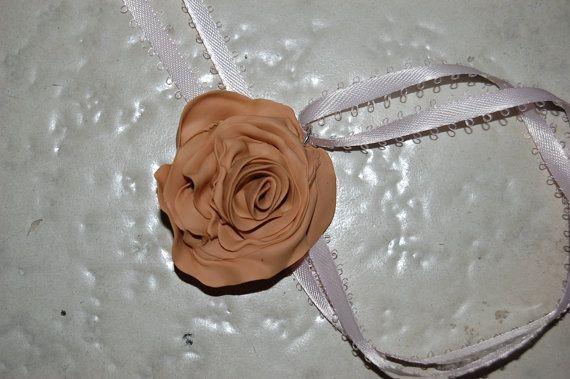 OOAK beige natural Fairyrose pendant by jamiebishop3 on Etsy, $15.00