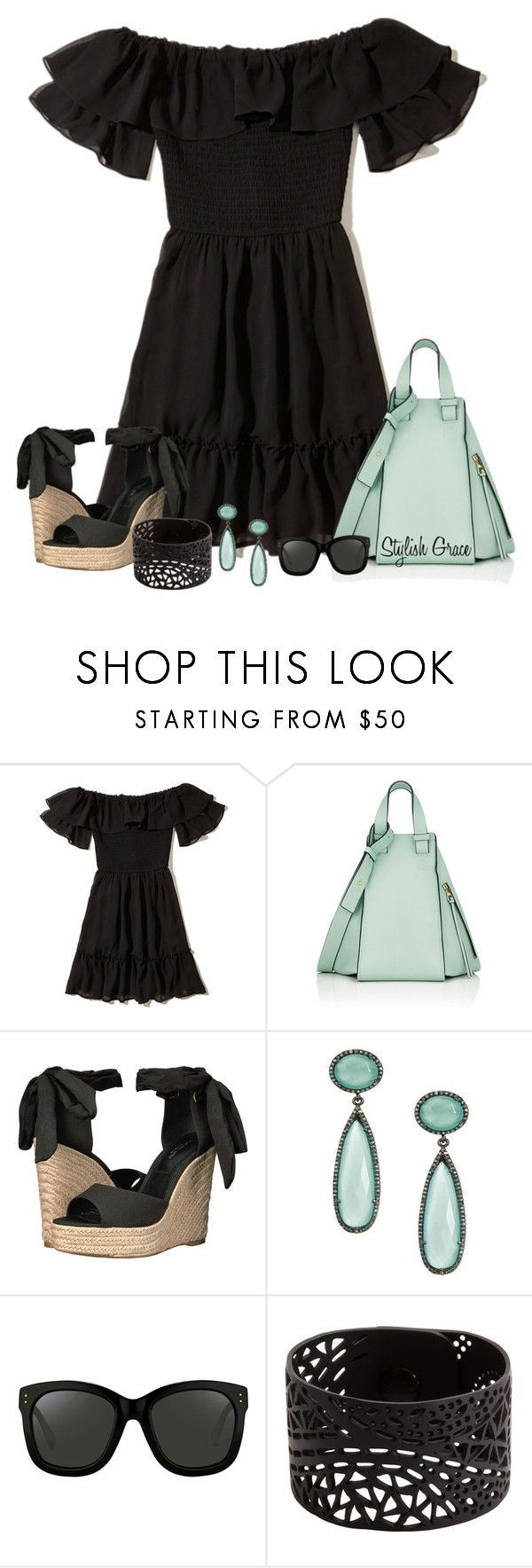 Ruffles & Mint by stylishgrace on Polyvore featuring Hollister Co., Michael Kors, Loewe, ADORNIA and Linda Farrow