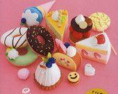 Kawaii Filz Süßigkeiten Kuchen Muster - japanischen Handwerks-Pattern-Buch - Spiel Toy für Kinder, Kids - Sayuri Horiuchi - hübsch gefälschte Filz Food - B938