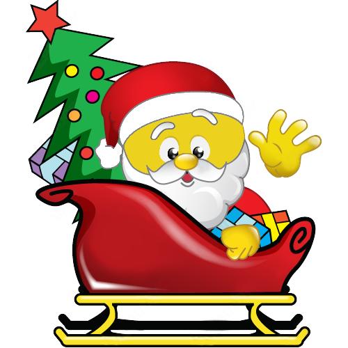 smiley santa weihnachten weihnachtsgr e und lustiger. Black Bedroom Furniture Sets. Home Design Ideas