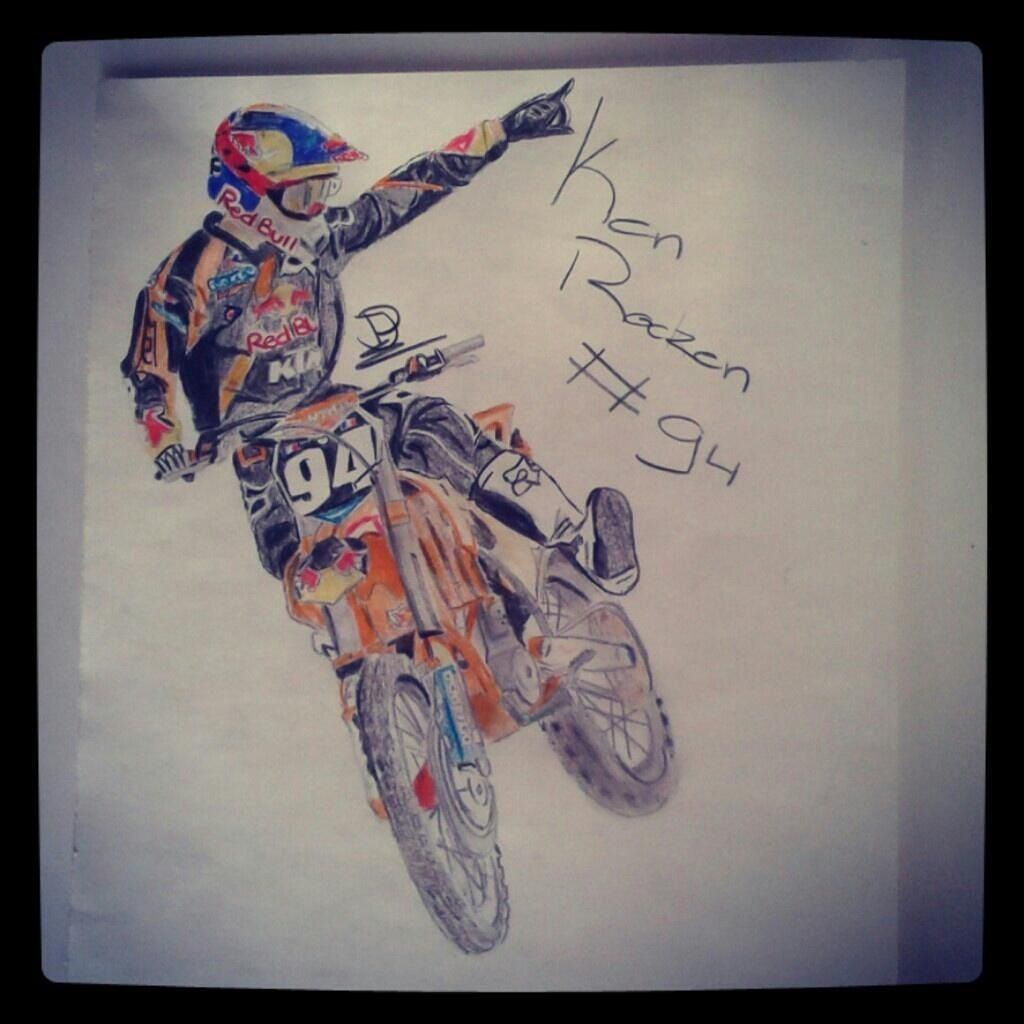 Sick drawing of Roczen! | Motocross | Pinterest | Sick, Draw and Artsy