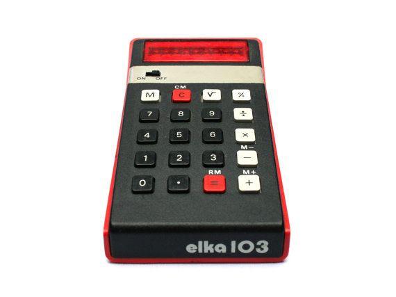 Feelingofdejavu sur etsy calculatrice elka accessoire de